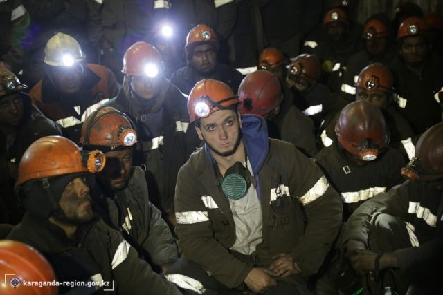 154бастующих шахтера покинули забои- Kapital.kz