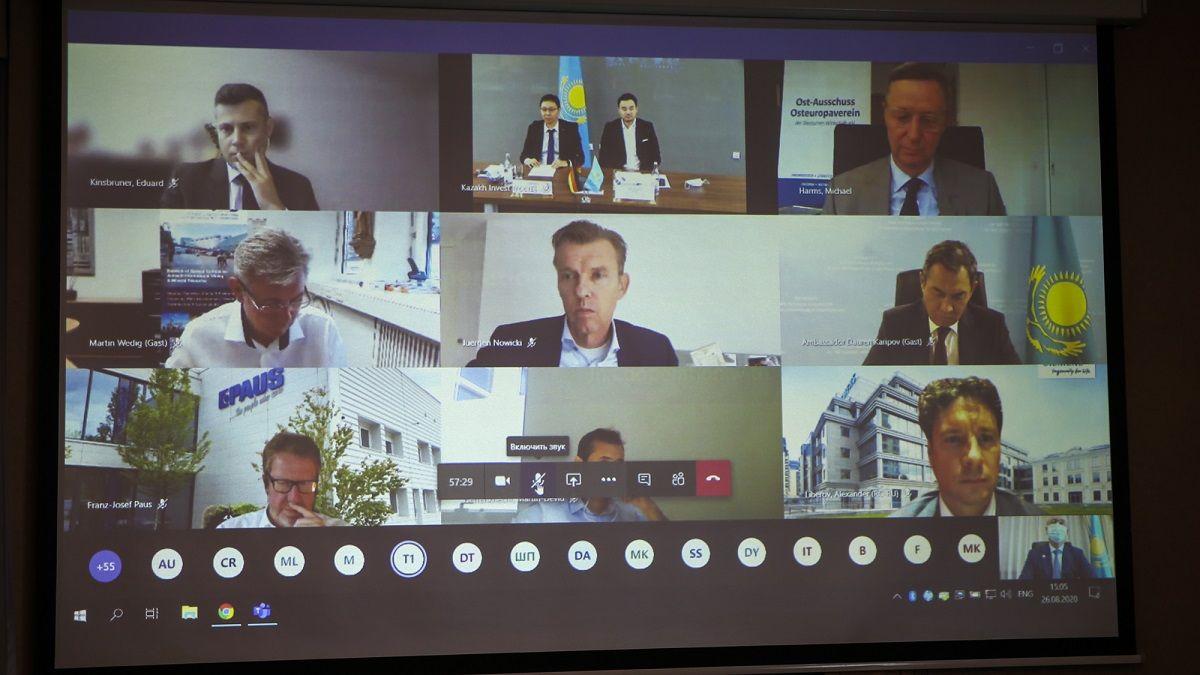 Роман Скляр провел онлайн-встречу с руководителями германских компаний 410070 - Kapital.kz