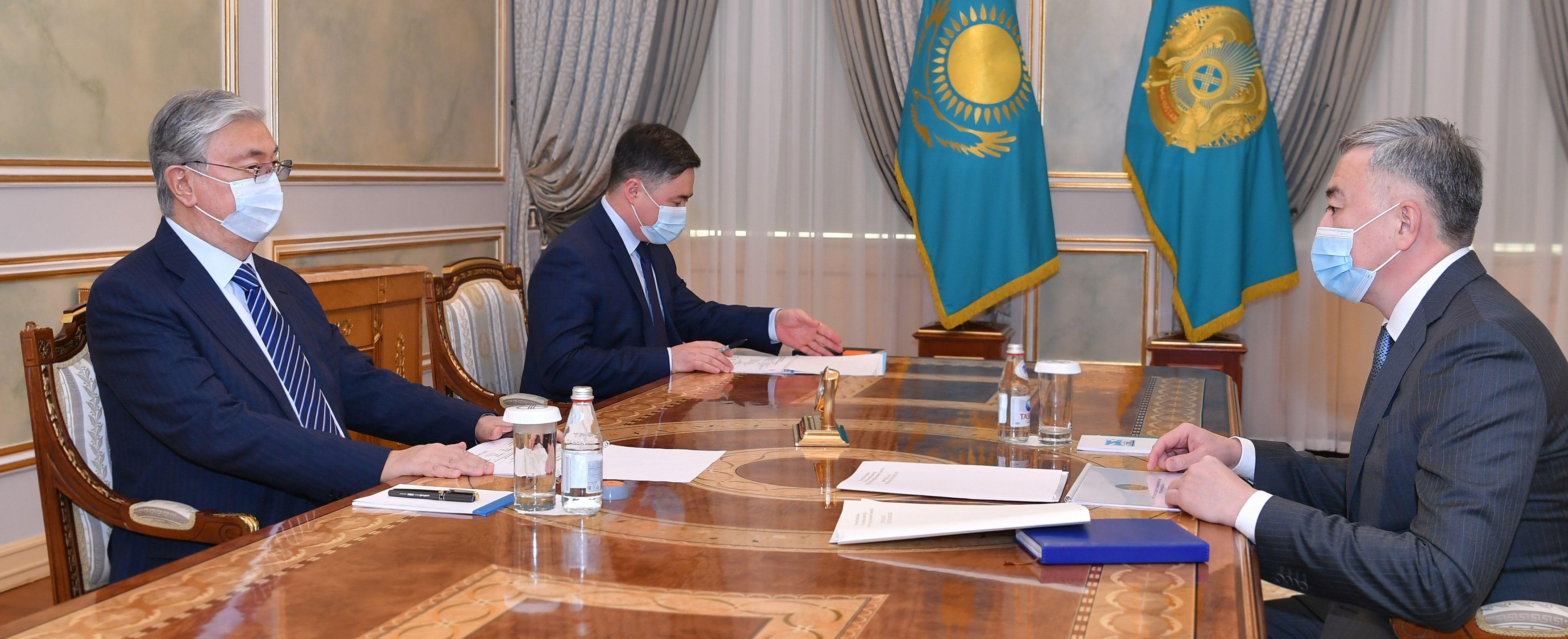 Президент заслушал отчет Серика Жумангарина 552969 - Kapital.kz