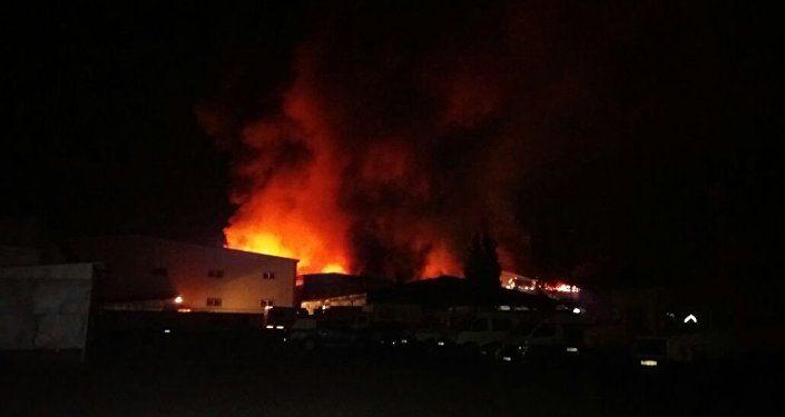 Крупный пожар вАлматы тушили 120человек- Kapital.kz