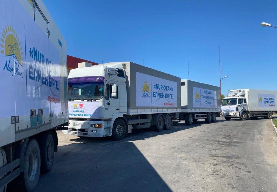 Nur Otan направил в Туркестанскую область более 40 тонн гуманитарной помощи- Kapital.kz