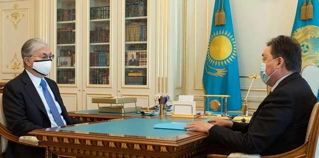 Касым-Жомарт Токаев заслушал отчет Аскара Мамина  461143 - Kapital.kz