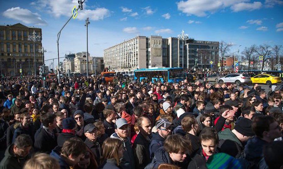 ВМоскве вовремя митинга задержано свыше 1тысячи человек- Kapital.kz