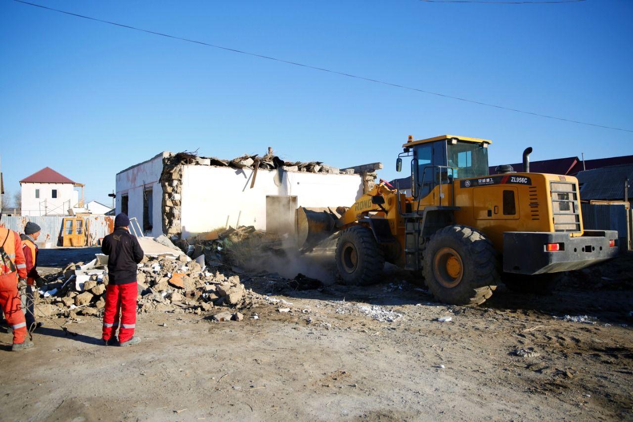 Встарой части Атырау сносят частные дома- Kapital.kz