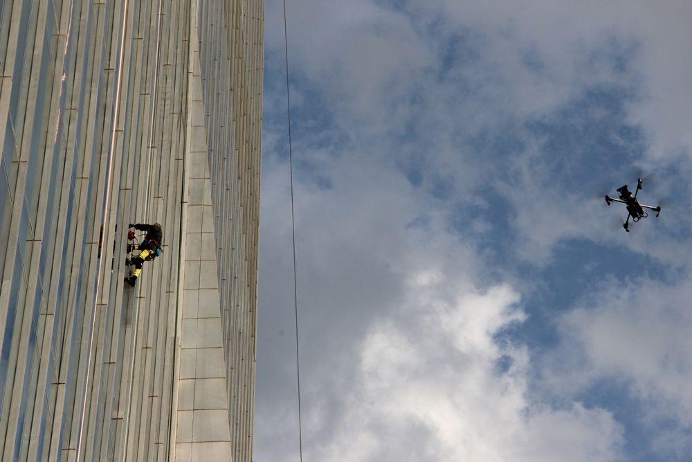 Человек-паук покорил самое высокое здание в Алматы- Kapital.kz
