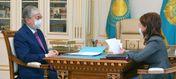 Аида Балаева проинформировала Президента о работе МИОР