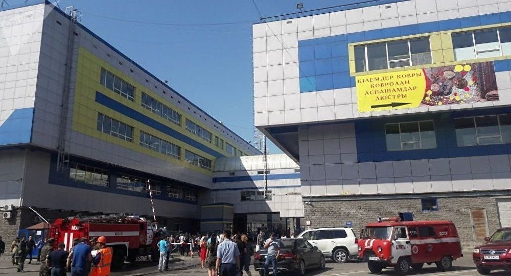 Пожар произошел вторговом центре Алматы- Kapital.kz